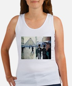 Caillebotte Paris Street Rainy Day Women's Tank To