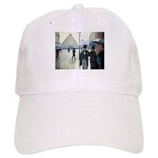 Caillebotte Paris Street Rainy Day Baseball Cap