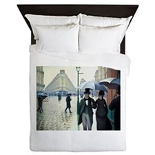 Caillebotte Paris Street Rainy Day Queen Duvet