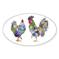 Rooster & Hen Decal