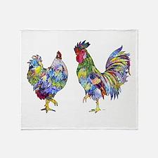 Rooster & Hen Throw Blanket