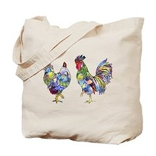 Rooster & Hen Tote Bag