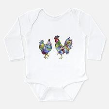 Rooster & Hen Long Sleeve Infant Bodysuit