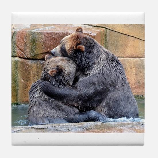 Cute Bears Tile Coaster