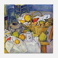 Paul Cezanne Fruit Basket Still Life Tile Coaster
