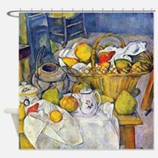 Paul Cezanne Fruit Basket Still Life Shower Curtai
