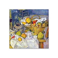 Paul Cezanne Fruit Basket Still Life Square Sticke