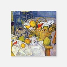 Paul Cezanne Fruit Basket Still Life Square Sticke