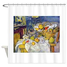 Paul Cezanne Fruit Basket Still Life Shower Curtai