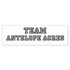 Team Antelope Acres Bumper Bumper Sticker