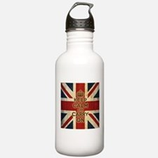 Vintage Keep Calm And Carry On Water Bottle