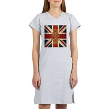 Vintage Keep Calm And Carry On Women's Nightshirt