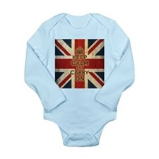 Vintage Keep Calm And Carry On Long Sleeve Infant