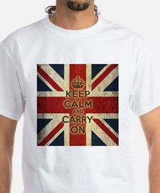 Vintage Keep Calm And Carry On Shirt