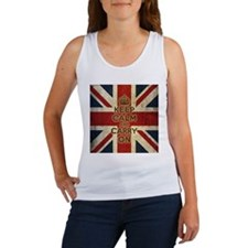 Vintage Keep Calm And Carry On Women's Tank Top