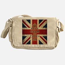 Vintage Keep Calm And Carry On Messenger Bag