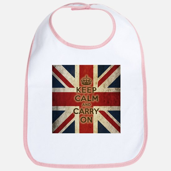 Vintage Keep Calm And Carry On Bib