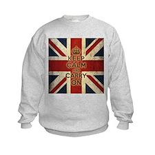 Vintage Keep Calm And Carry On Sweatshirt