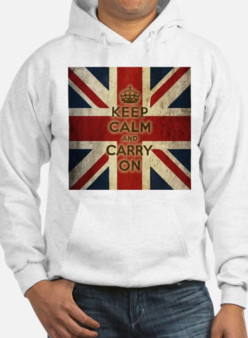 Vintage Keep Calm And Carry On Hoodie