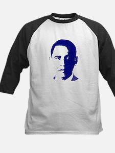 Obama Face Kids Baseball Jersey