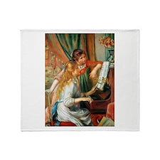 Renoir Girls At The Piano Throw Blanket