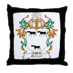 Metcalf Coat of Arms Throw Pillow