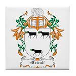 Metcalf Coat of Arms Tile Coaster