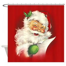 Santa Vintage Shower Curtain