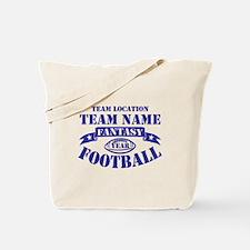 PERSONALIZED FANTASY FOOTBALL NAVY Tote Bag