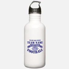 PERSONALIZED FANTASY FOOTBALL NAVY Water Bottle