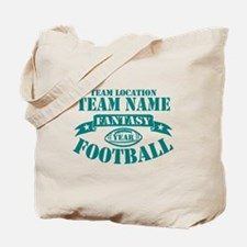 PERSONALIZED FANTASY FOOTBALL TEAL Tote Bag