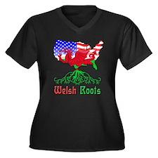 American Welsh Roots Women's Plus Size V-Neck Dark