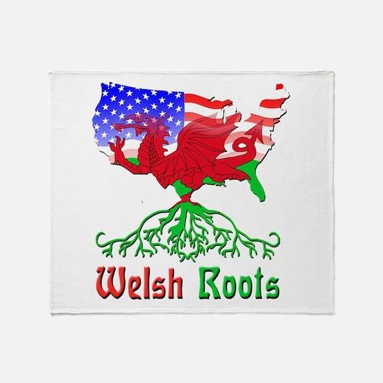 American Welsh Roots Throw Blanket