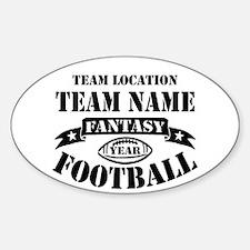 Your Team Fantasy Football Black Decal