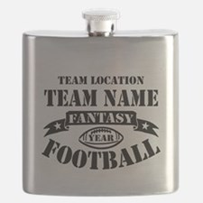Your Team Fantasy Football Black Flask