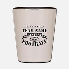 Your Team Fantasy Football Black Shot Glass