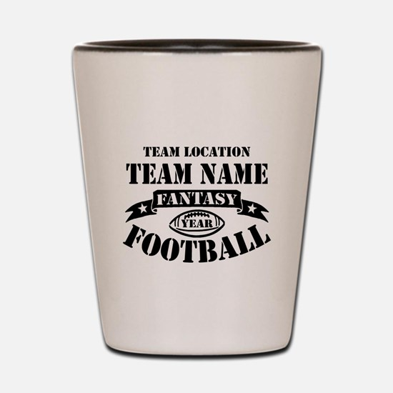 Your Team Fantasy Football Black Shot Glass