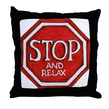 Vintage Chick Travel Stop & Relax Throw Pillow