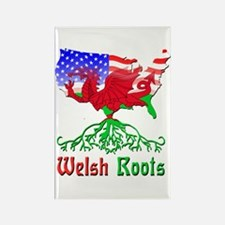 American Welsh Roots Rectangle Magnet (100 pack)