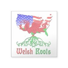 """American Welsh Roots Square Sticker 3"""" x 3&qu"""