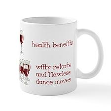 One Glass Wine Health Benefits Mug