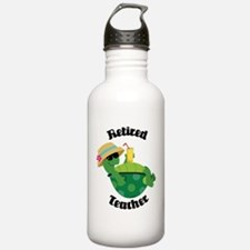 Retired Teacher Turtle Water Bottle