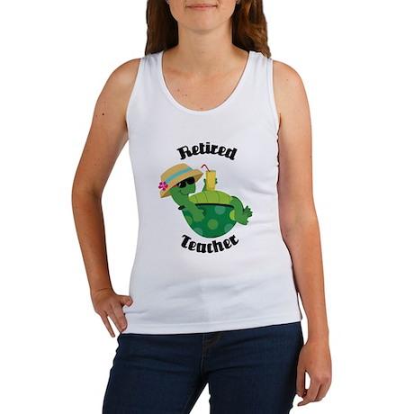 Retired Teacher Turtle Women's Tank Top