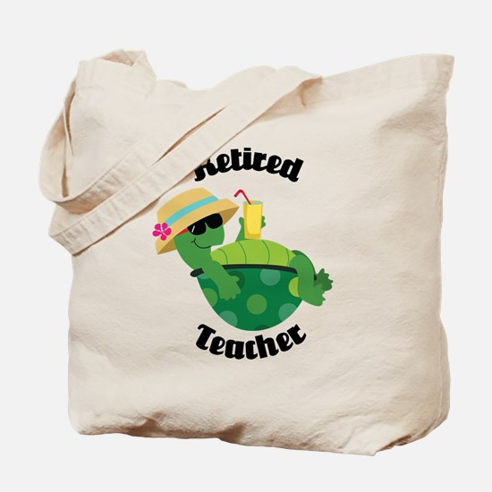 Retired Teacher Turtle Tote Bag