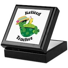 Retired Teacher Turtle Keepsake Box