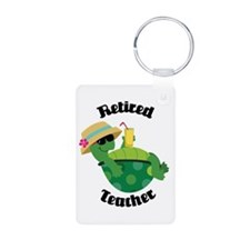 Retired Teacher Turtle Keychains