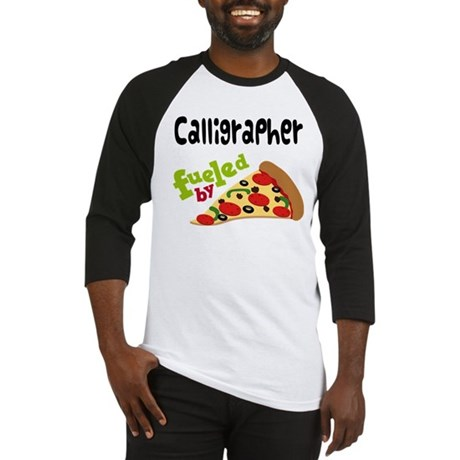 Calligrapher Funny Pizza Baseball Jersey