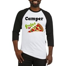 Camper Funny Pizza Baseball Jersey