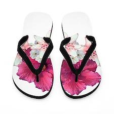 Hibiscus Arrangement Flip Flops