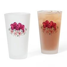 Hibiscus Arrangement Drinking Glass